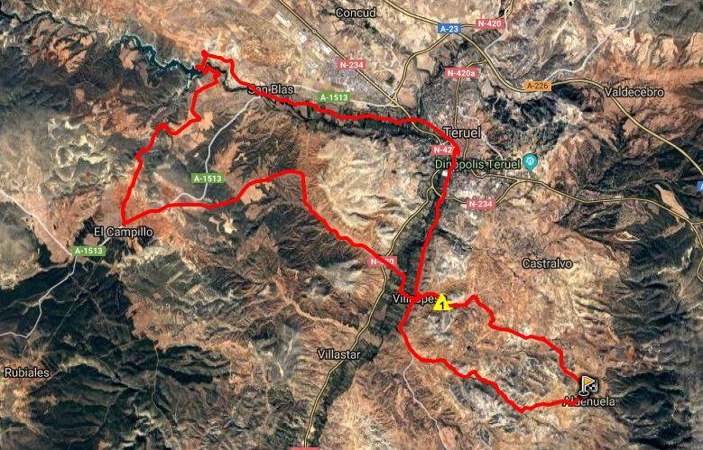 Ruta BTT: Aldehuela – Barranco Barrachina – Pantano