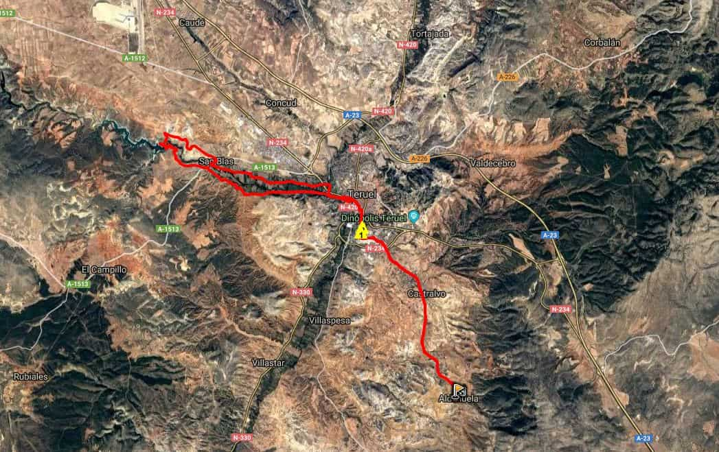 Ruta BTT: Aldehuela – Teruel -Pantano